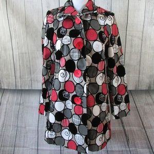 3 Sisters Jacket Multi-Color Dots sz Small S